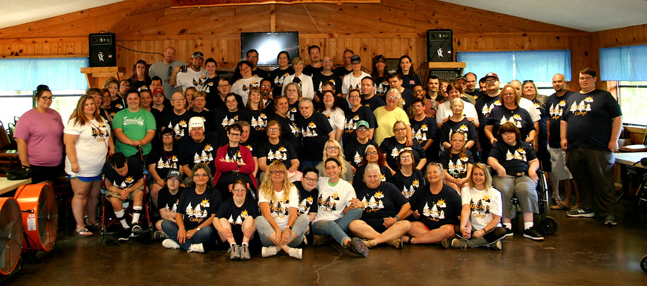 Yearly camp group photo