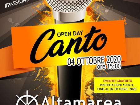 OPEN DAY CANTO - 04 OTTOBRE 2020