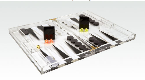 Lucite backgammon Black