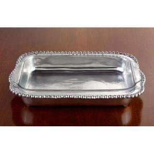 Silver Beaded Pyrex Holder