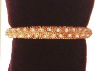 L'objet gold crystal napkin rings s/4