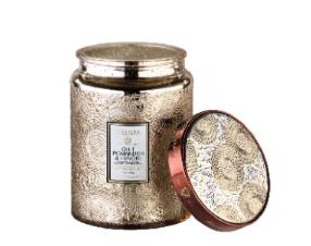 Gilt Pomander and Hinoki Large Glass Jar Candle