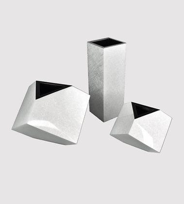 Silver Leaf Lacquer Vases