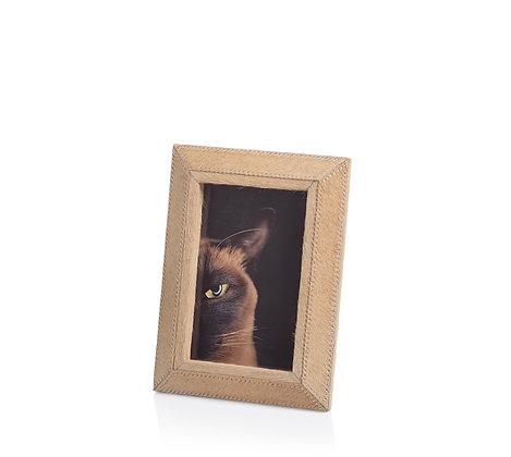 Aspen Dark Beige HairLeather Frame 4 x 6