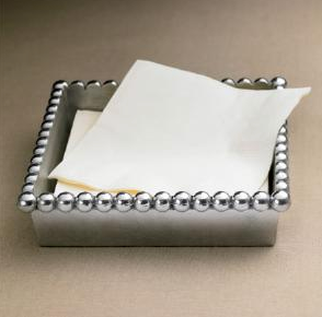 Beaded cocktail napkin holder