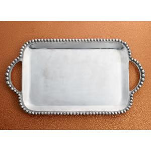Silver Beaded Tray