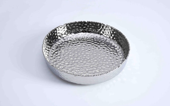 Hammered Extra Large Shallow Bowl