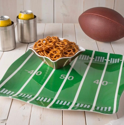 Football platter and bowl