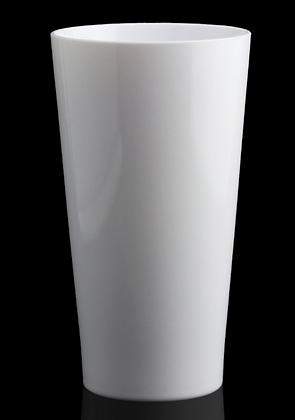 Tall 16 oz. white acrylic glass