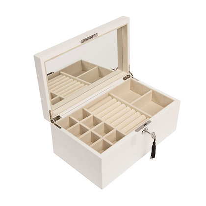 White Lacquer Stackable Jewelry box