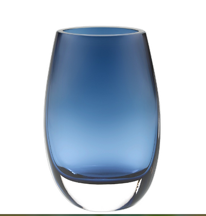 Midnight blue vase