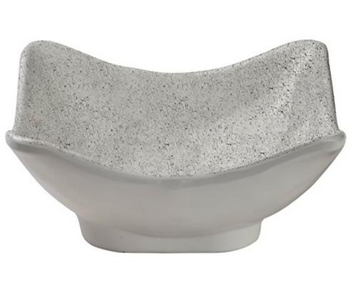 White Crackle Melamine dip bowl