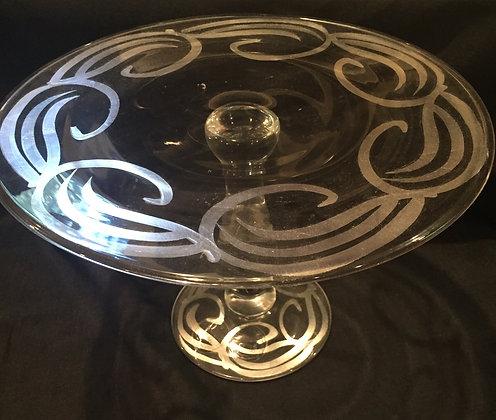 Silver Swirl Pedestal Cake plate