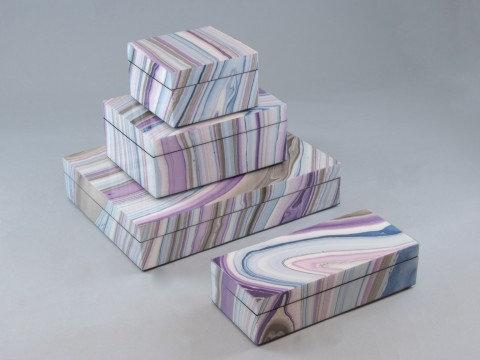 Lavender laquer boxes