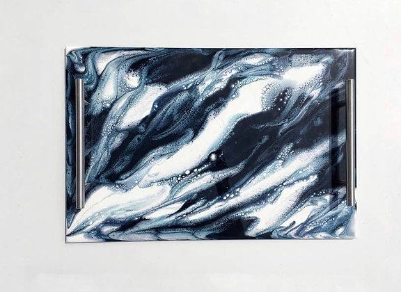 Resin Serving Tray with Handles