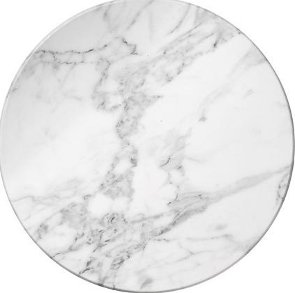 White marble melamine platter