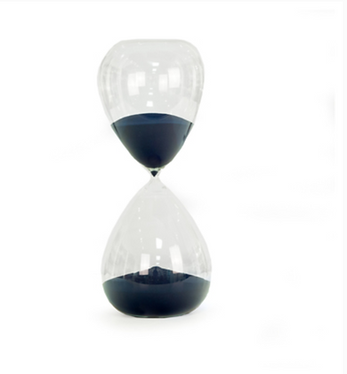 240 Minute Crystal Sand Timer with Navy Sand