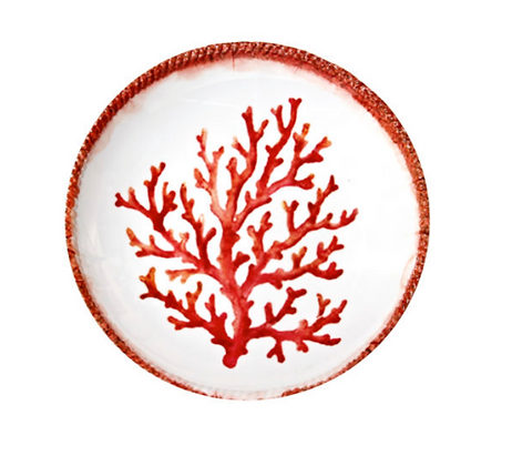 Shallow bowl - Coral