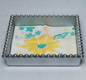 Beaded lunch napkin holder