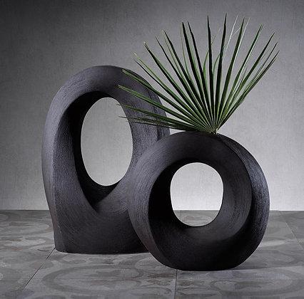 Large Manzanilla Porcelain Black Vase
