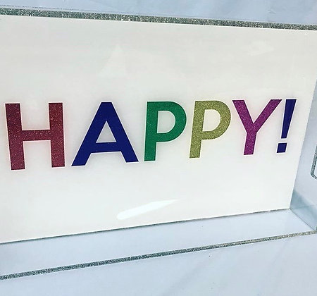 Happy Acrylic Tray