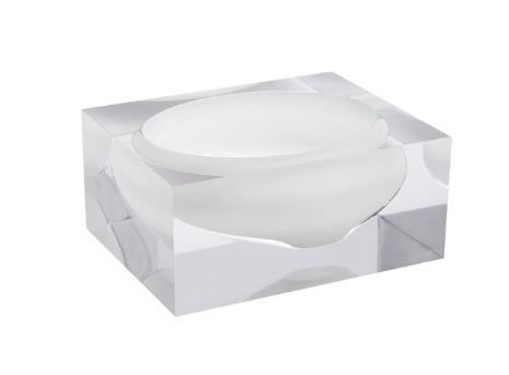 Acrylic block bowl