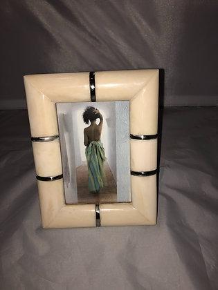 Bone picture frame