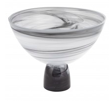 Black & White Alabaster Footed bowl