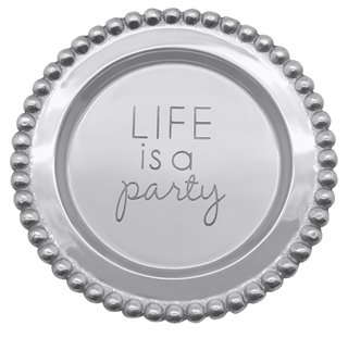 """Life is a Party"" Wine Plate"