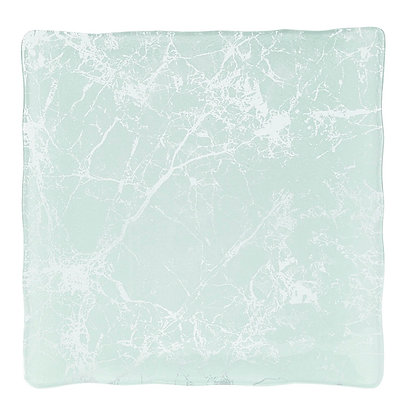 Square Glass Marble Platter