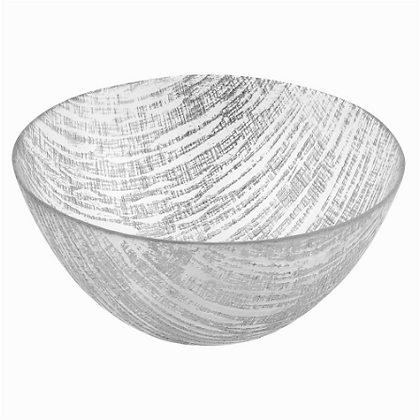 "Gold or Silver 11"" lines bowl"