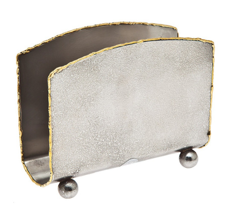Golden frost upright napkin holder