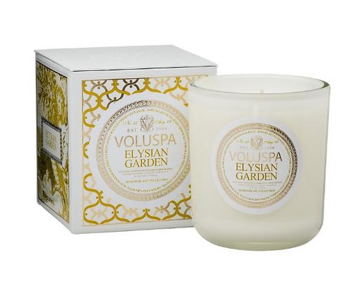 Voluspa Maison Blanc Elysian Garden Classic Candle