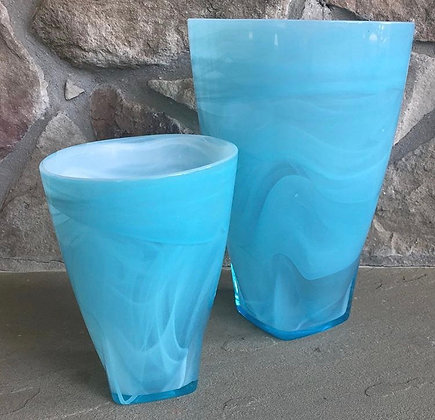 Turquoise glass vase- sold separately