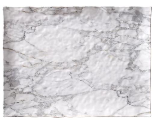 "White Marble Melamine 16"" serving tray"