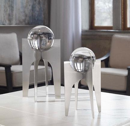 Silver Elliana Crystal Spheres