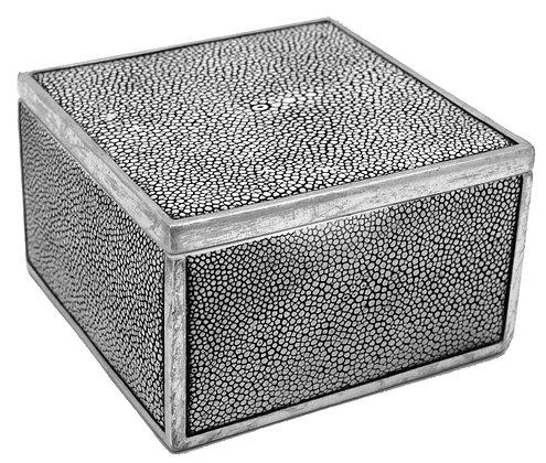 Square Resin Shagreen Box