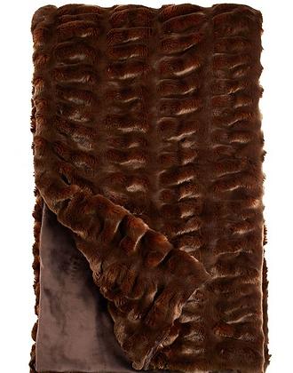 Mahogony Mink Faux Fur Throw