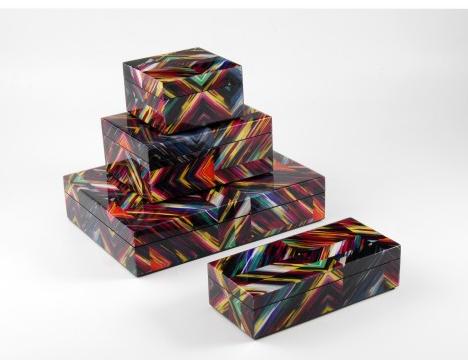 Diamond Lacquer Boxes