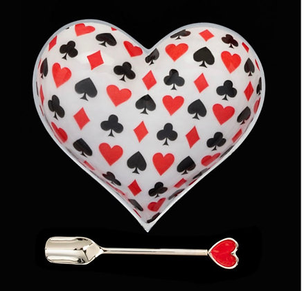 Large Card Heart with Red Heart Spoon