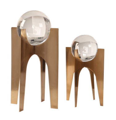 Gold Elliana Crystal Spheres