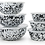 Thumbnail: Enameled mixing bowls - set of 3 w/ lids