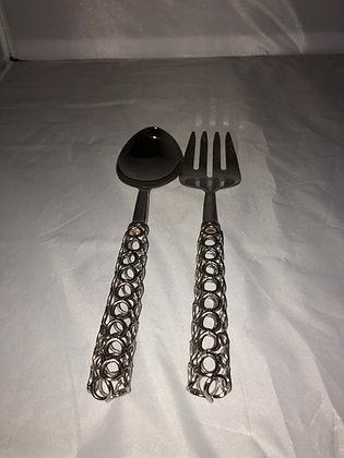 Silver link serving set