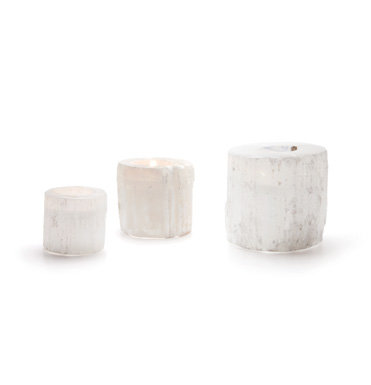 Round Rock Crystal Votives s/3