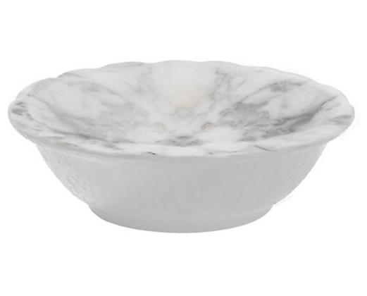 """White Marble Melamine 5"""" dip bowl"""
