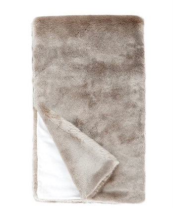 Champagne Faux Fur Throw