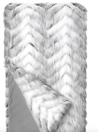 Crystal Fox Faux Fur Throw