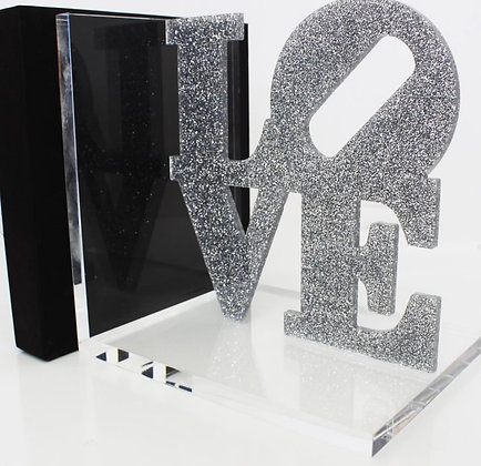 LOVE Acrylic Bookends