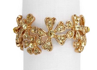 L'objet gold garland napkin rings s/4