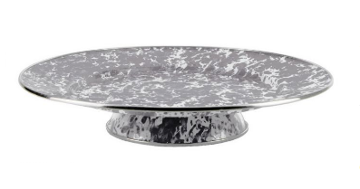 Swirl cake plate with or without dome